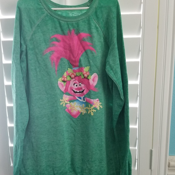 83908dc1 Dreamworks Shirts & Tops | Trolls Lightweight Sweatshirt Girls Xl ...